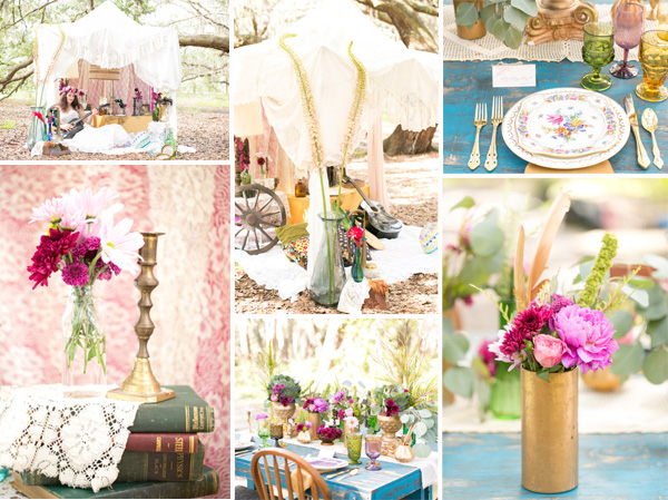 gold-and-pink-vintage-boho-theme-wedding-decoration-ideas